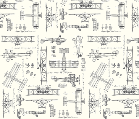 WW1 Grey/Cream fabric by savannahlindsay on Spoonflower - custom fabric