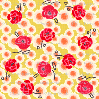 Poppies Ditsy Print