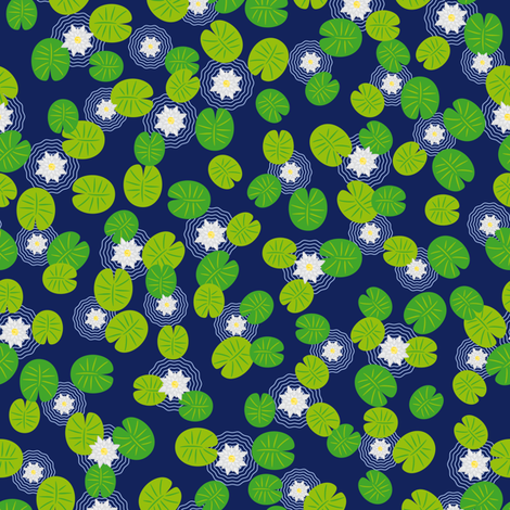 I wish I had a lily pond fabric by annosch on Spoonflower - custom fabric
