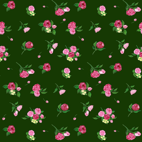 Pink flowers fabric by rosapomposa on Spoonflower - custom fabric