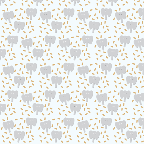 Nuts_Elephant fabric by christophe on Spoonflower - custom fabric