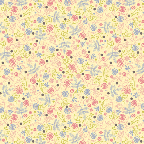 Marie Antoinette (ditsy print – light) fabric by jennartdesigns on Spoonflower - custom fabric