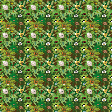 The Rainforest Ditsy Print fabric by brandymiller on Spoonflower - custom fabric