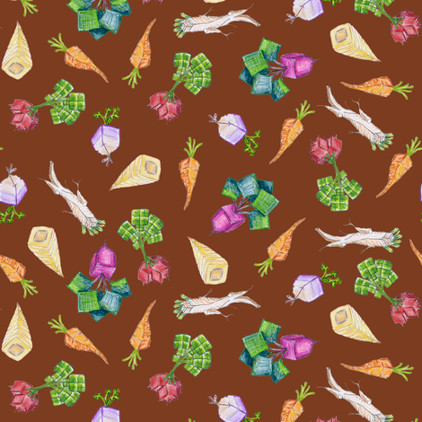 baby square roots on Boolean brown fabric by weavingmajor on Spoonflower - custom fabric