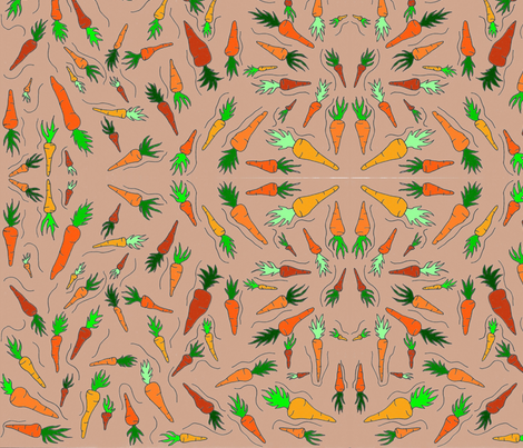 Wild in the carrot patch fabric by chellybelle on Spoonflower - custom fabric