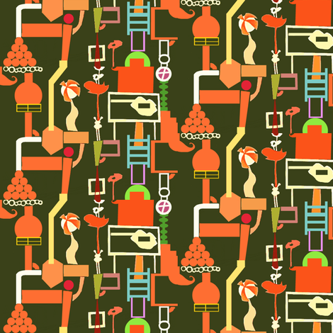 Tiny Ball Factory fabric by boris_thumbkin on Spoonflower - custom fabric