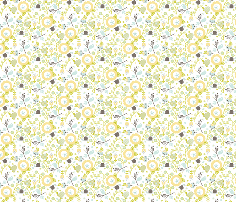 Ditsy Flower Garden fabric by ttoz on Spoonflower - custom fabric