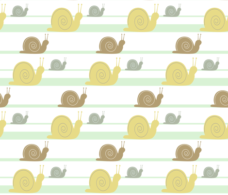 Slow & Steady fabric by theladyinthread on Spoonflower - custom fabric