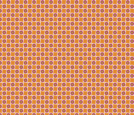 Scrolls Tangerine fabric by freshlypieced on Spoonflower - custom fabric