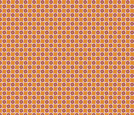 Scrolls Tangerine fabric by freshlypieced on Spoonflower - custom fabric