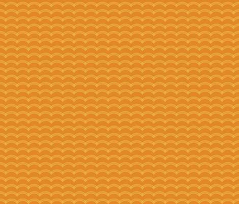 Scallop Stripe Tangerine fabric by freshlypieced on Spoonflower - custom fabric