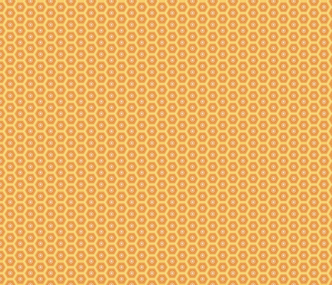 Hexies Marigold fabric by freshlypieced on Spoonflower - custom fabric