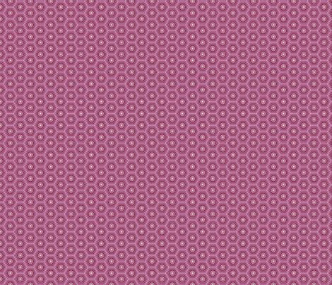Hexies Purple fabric by freshlypieced on Spoonflower - custom fabric