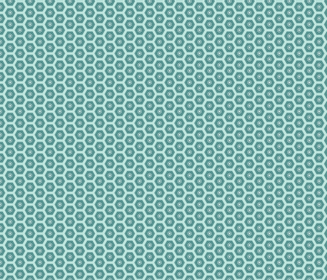 Hexies Lake fabric by freshlypieced on Spoonflower - custom fabric