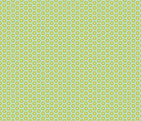 Hexies Lime fabric by freshlypieced on Spoonflower - custom fabric