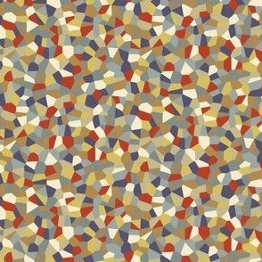 Confetti Ditsy, Red-Blue