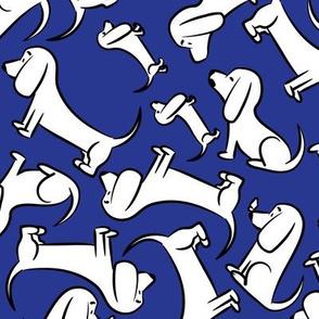 Doodle Bassets - Blue