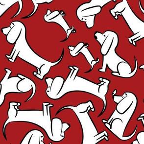 Doodle Bassets - Red