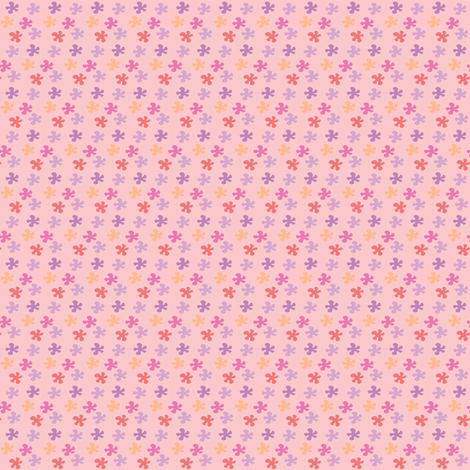 Flowers in pink fabric by sawabona on Spoonflower - custom fabric