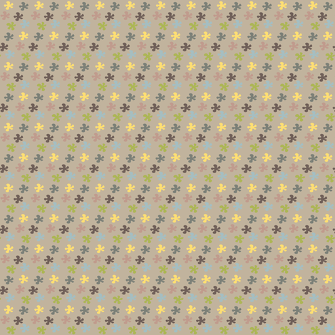 Flower in colors brown fabric by sawabona on Spoonflower - custom fabric