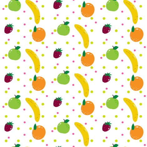 Fruity Fun! - © PinkSodaPop 4ComputerHeaven.com fabric by pinksodapop on Spoonflower - custom fabric