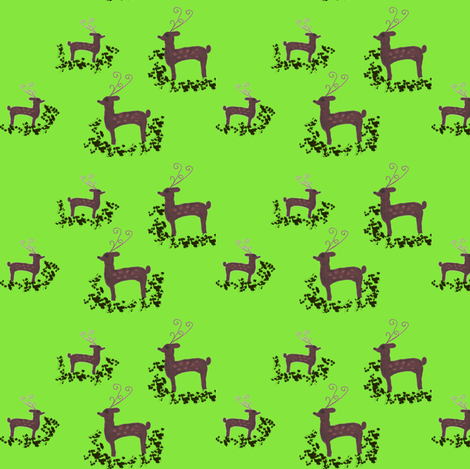Deer Christmas fabric by angelgreen on Spoonflower - custom fabric