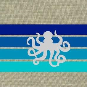 under the sea on linen