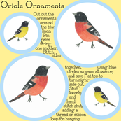 Rainbow Oriole ornaments