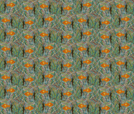 Collage Fish fabric by allida on Spoonflower - custom fabric
