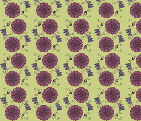 Purple Flowers simple fabric by meg56003 on Spoonflower - custom fabric