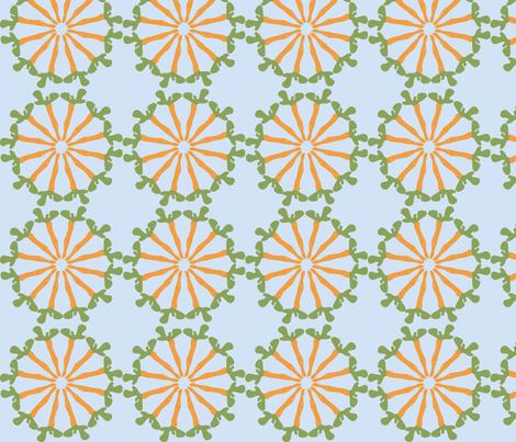 carrot go wheel fabric by krydell on Spoonflower - custom fabric