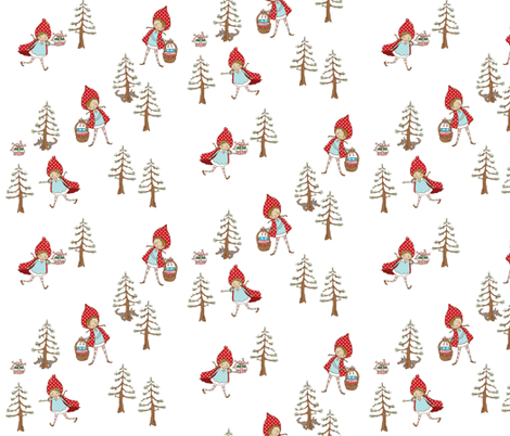 Christmas Red fabric by pocketful_of_pinwheels on Spoonflower - custom fabric