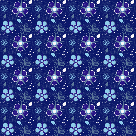 Origami Blue fabric by eppiepeppercorn on Spoonflower - custom fabric