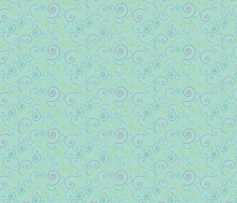 Swirl Aqua fabric by freshlypieced on Spoonflower - custom fabric