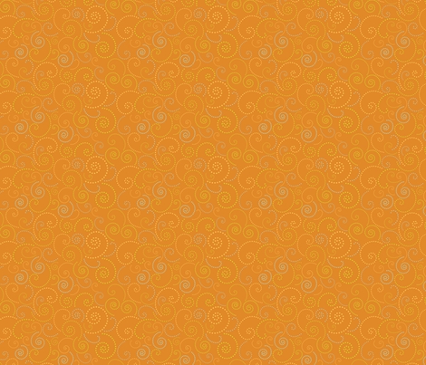 Swirl Orange fabric by freshlypieced on Spoonflower - custom fabric