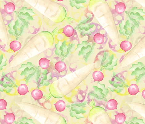 Radishes and Renkon fabric by siya on Spoonflower - custom fabric