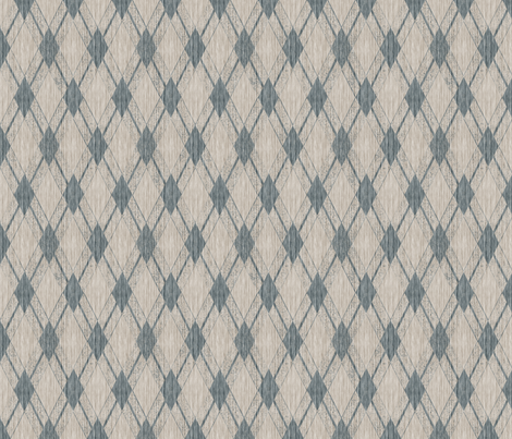 French Linen Diamonds - Antique Blue fabric by kristopherk on Spoonflower - custom fabric