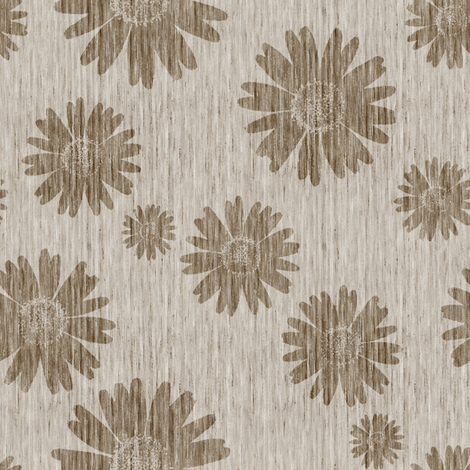 French Linen Daisy - Natural fabric by kristopherk on Spoonflower - custom fabric