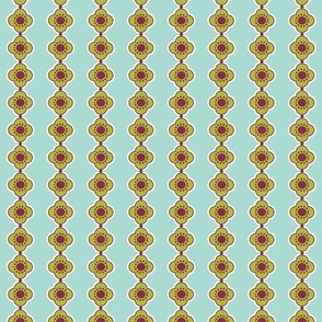 Flower Stripe Aqua