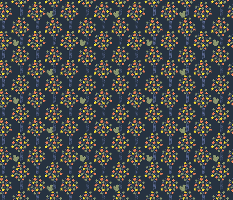 little autumn trees fabric by bethan_janine on Spoonflower - custom fabric