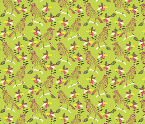 zig zag bird fabric by bethan_janine on Spoonflower - custom fabric