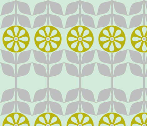 Happy Daisy  fabric by lana_kole on Spoonflower - custom fabric