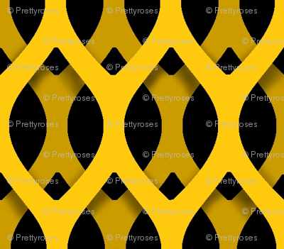 Golden Latticework Fabric