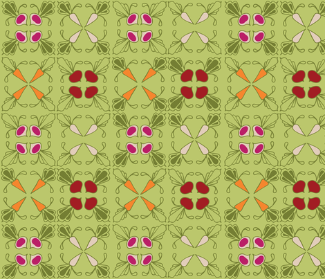 Roots and Squares fabric by fia on Spoonflower - custom fabric