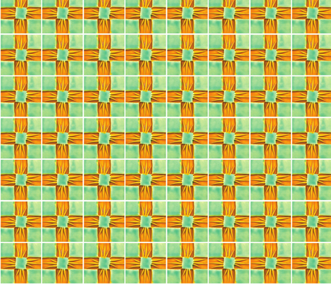 Waffle, Gold & Turq-18 fabric by pad_design on Spoonflower - custom fabric