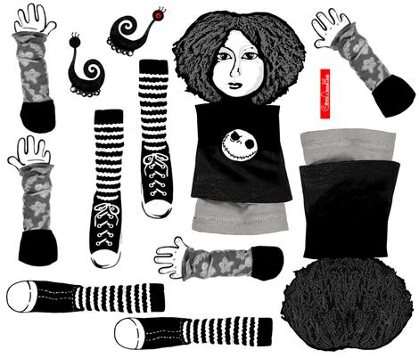Clara rag doll fabric by runnycustard on Spoonflower - custom fabric