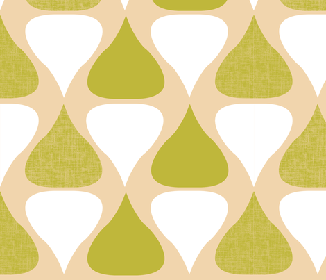 a drop of water(green) fabric by blingmoon on Spoonflower - custom fabric
