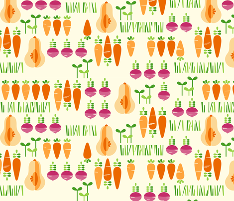 Root Veggie Patch fabric by kate_legge on Spoonflower - custom fabric