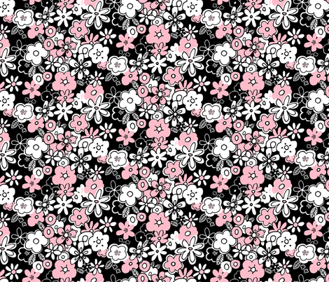Shower of Flowers fabric by leanne on Spoonflower - custom fabric