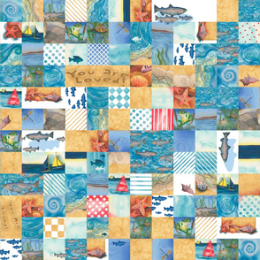 "Boys ""You Are Loved"" Cheater Quilt (repeating)"